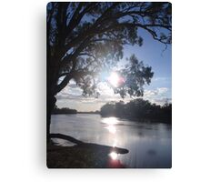 Sunset on the Murray Canvas Print