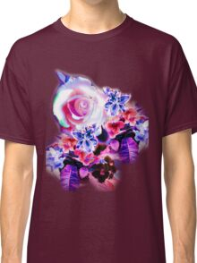 FLORAL ELECTRIC ROSE Classic T-Shirt
