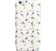 Cute girly colorful abstract floral pattern iPhone Case/Skin