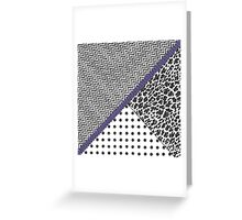 Black white fux glitter chevron animal print  Greeting Card