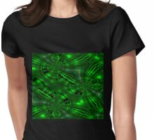 WA10 green fractal trace design Womens Fitted T-Shirt