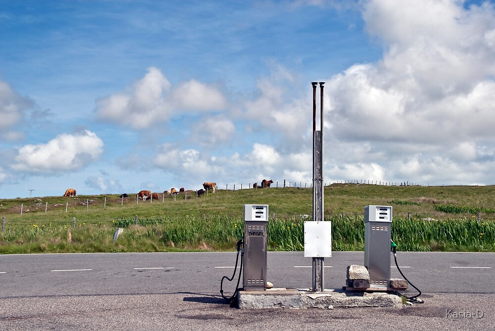 North Uist: Filling Station by Kasia-D