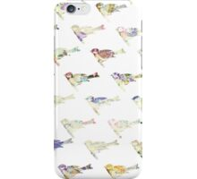 Vintage pastel watercolor floral bird pattern iPhone Case/Skin