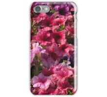 Colorful photo of pink purple flowers pattern  iPhone Case/Skin