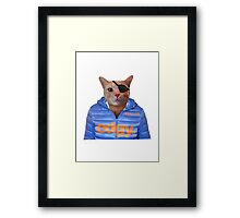 Edgy Cat Framed Print