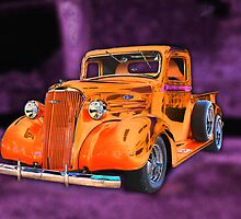 30's Screamin' Orange Chevy Pickup by TWindDancer