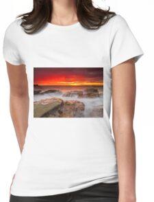 Rainy Sunrise Womens Fitted T-Shirt
