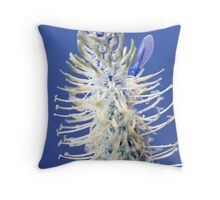 Blue Spiked Rampion (Mid Blue) Throw Pillow