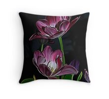 Purple tulips.... Throw Pillow