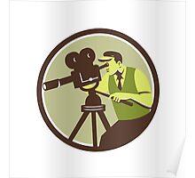 Cameraman Director Vintage Camera Retro Poster
