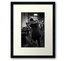 Hardening & Quenching A Sword  Framed Print