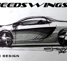 Concept Car Sketch by ejosephdesign