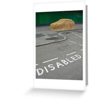 Disabled Parking Greeting Card