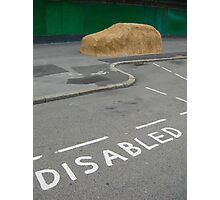 Disabled Parking Photographic Print