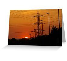 Sunrise In Suburbia Greeting Card