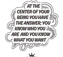 At the Centre of Your Being by Zenology Arts