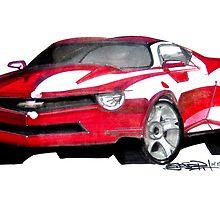 Camaro Concept Rendering by ejosephdesign