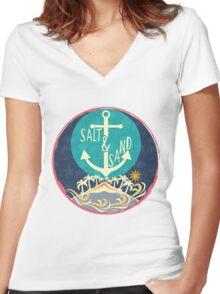 Beach Women's Fitted V-Neck T-Shirt