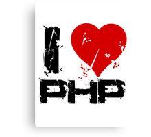 I Love PHP Canvas Print