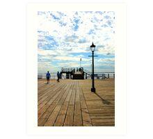 Marina under blue sky Art Print