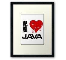I Love Java Framed Print