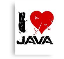 I Love Java Canvas Print