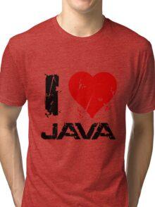 I Love Java Tri-blend T-Shirt