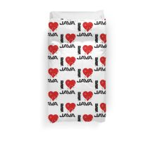 I Love Java Duvet Cover