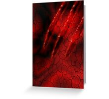 Red Ghoulish Claw iPhone & iPad Greeting Card