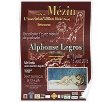 Affiche design -EXPOSITION ALPHONSE LEGROS -FRANCE- Poster