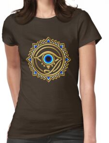 Nazar - protection amulet - eye of providence - all seeing eye, Horus Womens Fitted T-Shirt