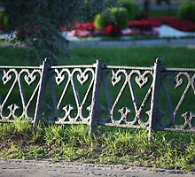 ancient fence city park by mrivserg