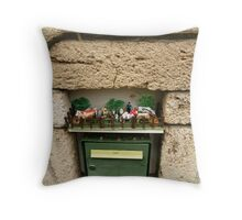 Funny letterbox! Throw Pillow