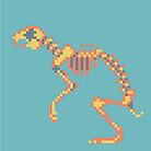 Rabbit Pixel Skeleton by Maxine Penders