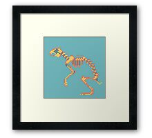 Rabbit Pixel Skeleton Framed Print