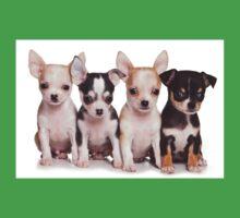 Four cute chihuahua puppy Kids Clothes