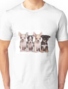 Four cute chihuahua puppy Unisex T-Shirt