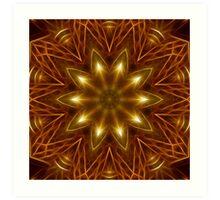 Gold Star Kaleidoscope 160 Art Print