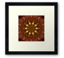 Gold Star Kaleidoscope 160 Framed Print