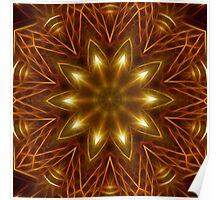 Gold Star Kaleidoscope 160 Poster