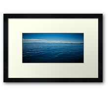 calm waters Framed Print