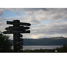 Sweden Natural Landscape and signs Photographic Print