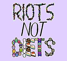 Riots Not Diets Feminist Slogan by riotcakes