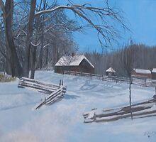 Winter in Michigan by Ivan P. (John) Dobranic