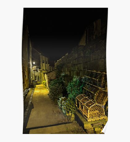 The Narrow Streets of Staithes Poster