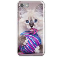 fluffy kitten iPhone Case/Skin