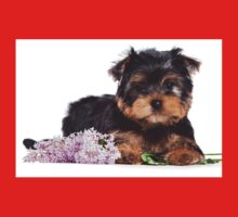 Puppy York and flowers Baby Tee