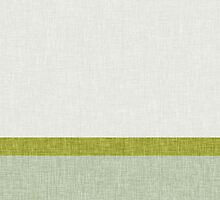 3 Toned Green Stripes and Banners Visual Burlap Weave Texture Pattern Modern Trendy Abstract by jocelynsart