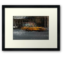 Yellow cab Framed Print