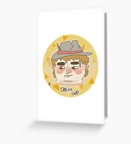 DORITO HEAD Greeting Card